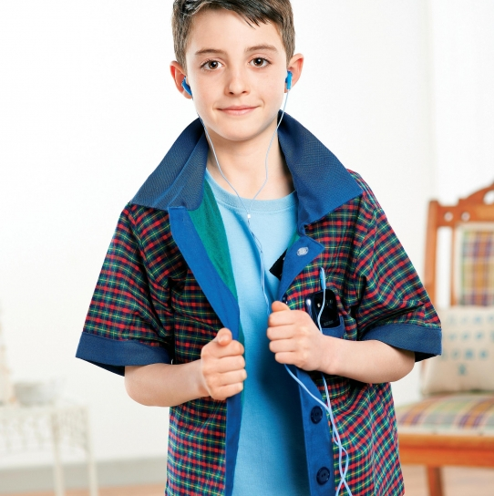 Young Boy's Casual Checked Shirt
