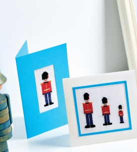 Cross Stitch Soldiers Cards, Frames and Tags