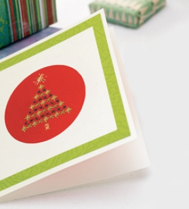 Cross Stitched Christmas Cards