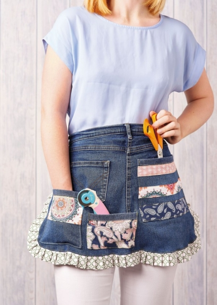 Denim craft pinny