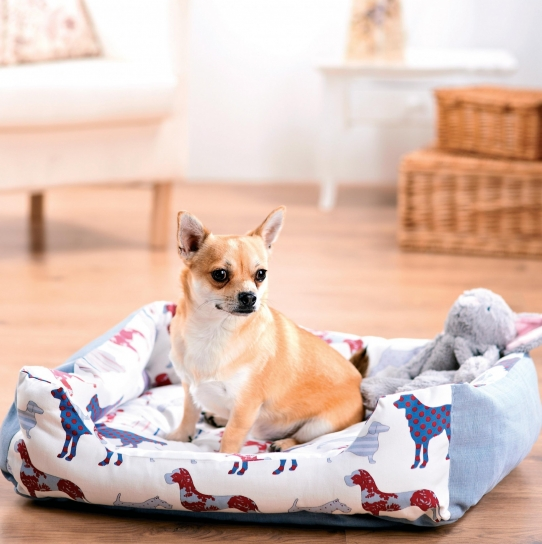 Dog Print Dog Bed and Coat - Free sewing patterns - Sew Magazine