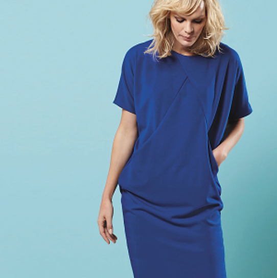 Draped Gown Pattern: Sewing Bee Draped Dress