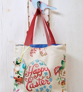 Easter Embroidered Bag and Egg Cosies