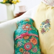 Easy floral hot water bottle cover