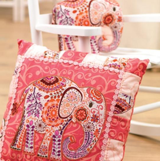 Elephant Cushion Toy Free Sewing Patterns Sew Magazine