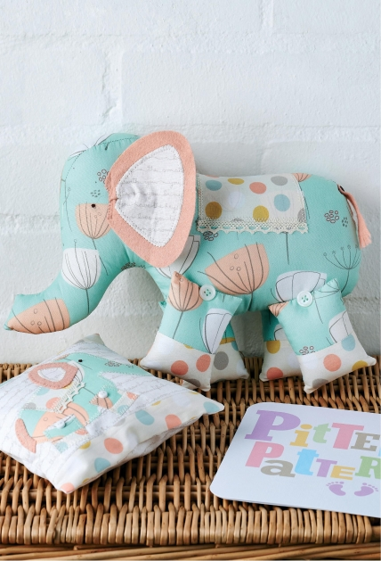 Art Gallery Fabric Elephant And Pillow Free Sewing