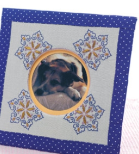 Embroidered Photo Album & Frame