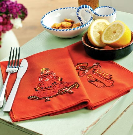 Embroidered Spanish Tapas Napkins