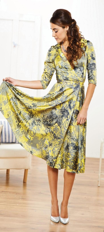 Floaty Floral Three Quarter Sleeved Dress