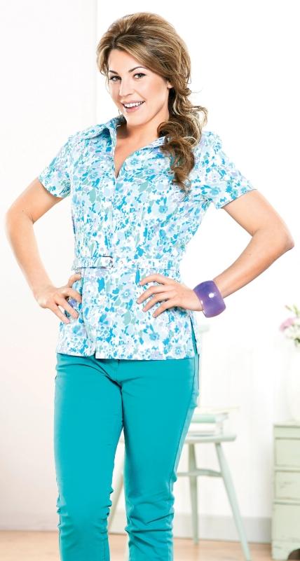 liberty print blouse pattern blue denim blouses. Black Bedroom Furniture Sets. Home Design Ideas