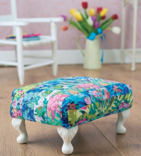 Amy Butler footstool