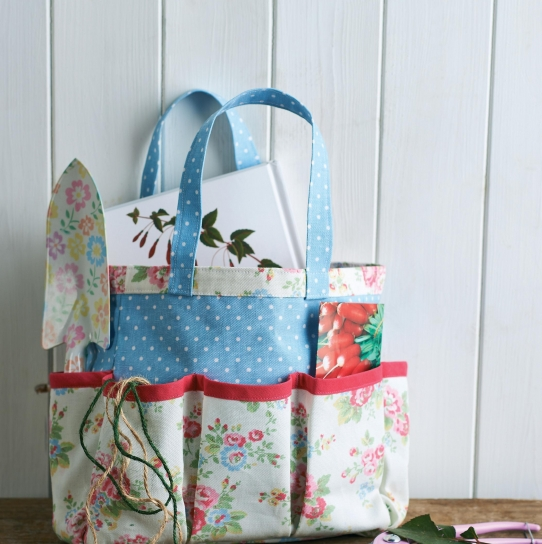 Cath Kidston Fabric Gardening Tool Caddy and Knee Rest - Free sewing ...