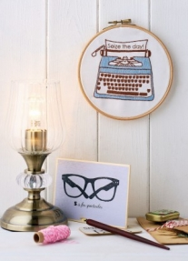 Inspirational embroidery hoop