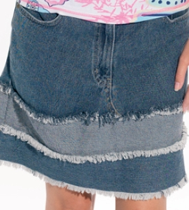 Jeans To Skirt Revamp