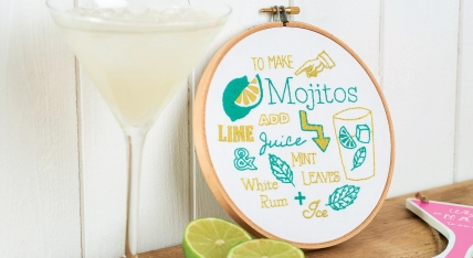 Mojito embroidery hoop