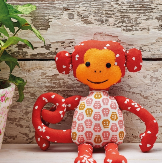 Monkey Toy - Free sewing patterns - Sew Magazine