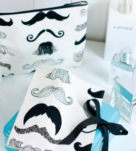 Moustache Printed Toiletry Set
