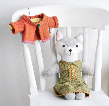 Upcycled Toy Fox