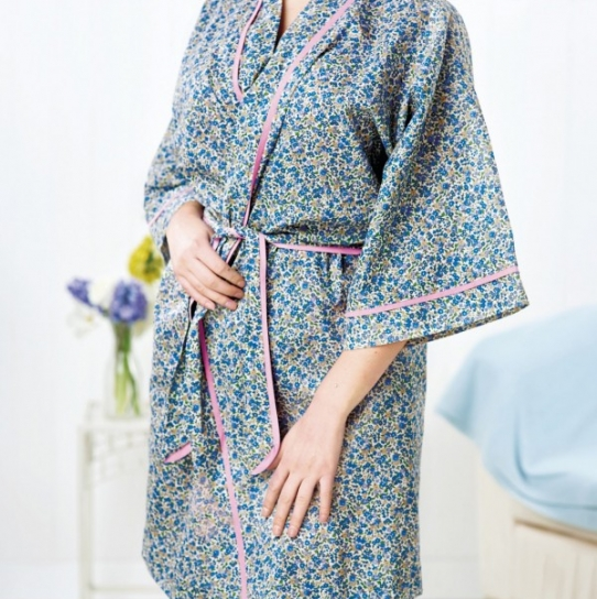 No Pattern Dressing Gown Free Sewing Patterns Sew Magazine
