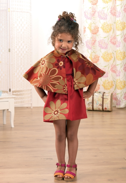 No Pattern Girl S Dress And Cape Set Free Sewing