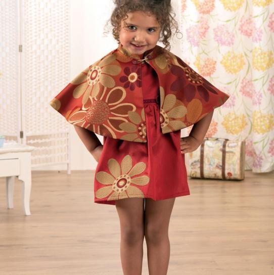 No Pattern Girls Dress And Cape Set Free Sewing Patterns Sew