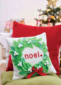 Christmas Mistletoe Cushion and Decs