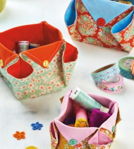 Origami Fabric Boxes