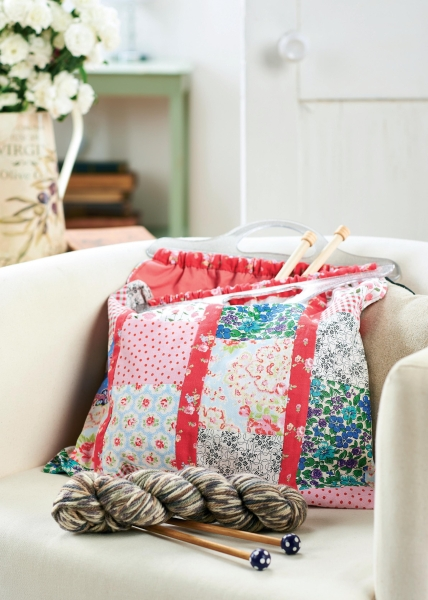 Knitting Bag Pattern To Sew : Patchwork Project Knitting Bag - Free sewing patterns - Sew Magazine