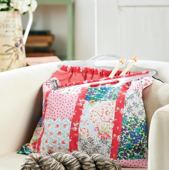 Patchwork Project Knitting Bag Free Sewing Patterns Sew Magazine