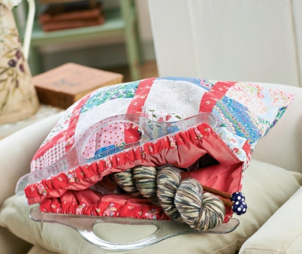 Patchwork Knitting Bag Pattern : Patchwork Project Knitting Bag - Free sewing patterns - Sew Magazine