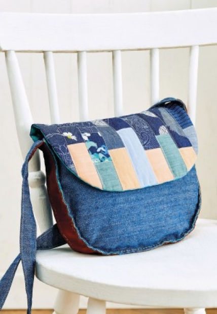 Patchwork denim bag