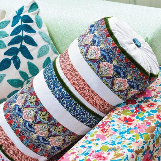 Liberty Print Bolster Cushion Free Sewing Patterns Sew Magazine