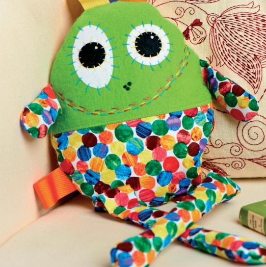 Retro Print Plush Monsters - Free sewing patterns - Sew Magazine