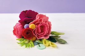 Purple Anemone Felt Bouquet