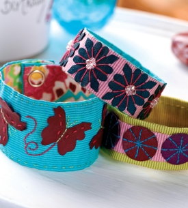 Quick Stitch Fabric Wristbands