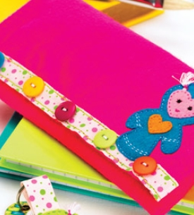 Quirky Felt Pencil Case