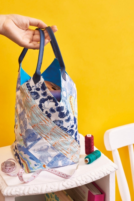 Easy Fabric Scrap Bucket Bag