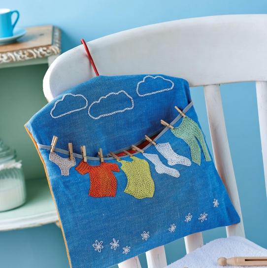 Chain Stitched Peg Bag Free Sewing Patterns Sew Magazine