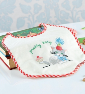 Split Stitch Embroidered Bib