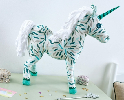 Art Gallery Fabric Unicorn Toy - Free sewing patterns - Sew Magazine