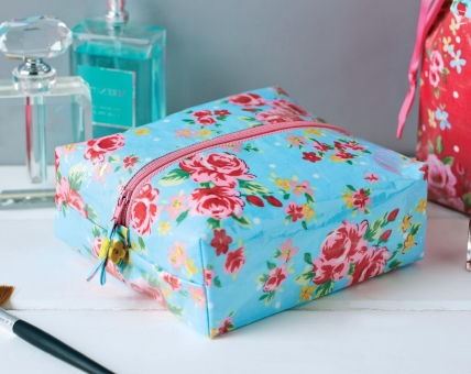 Laminated Floral Wash Bags