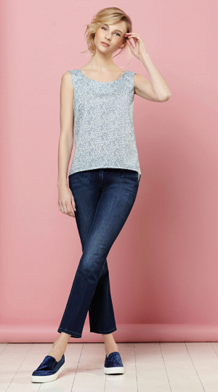 Sewing Bee Sleevless Shell Top
