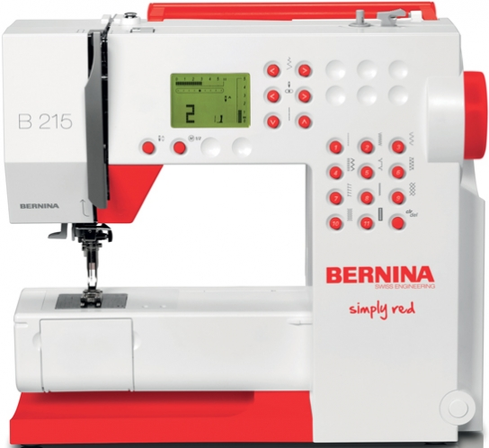 Bernina 40 Simply Red Sewing Machine Reviews Sew Magazine Impressive Bernina 215 Sewing Machine Reviews