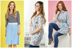 Cath Kidston skirt, maternity top & shirt dress