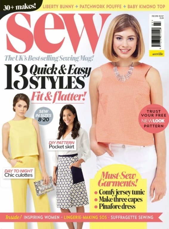 Sew February 2018 (all non-garment templates)