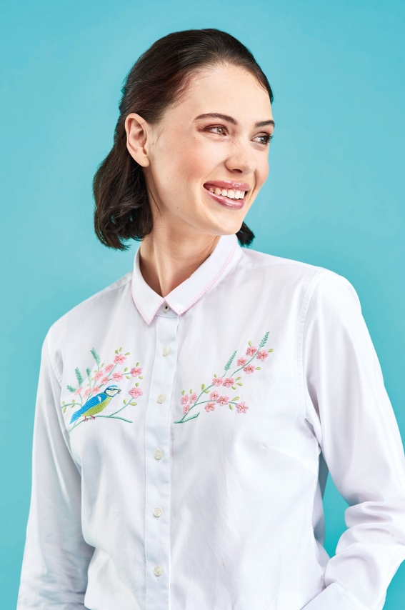 Sew 125 July 19 Bird & Blossom Shirt
