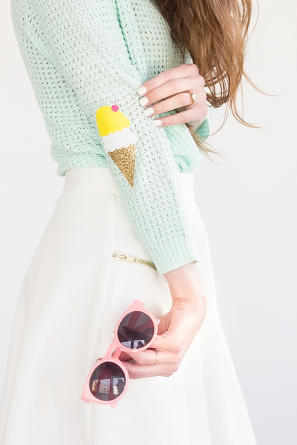 DIY Ice cream elbow patches