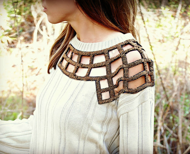 Upcycled Embellished Jumper