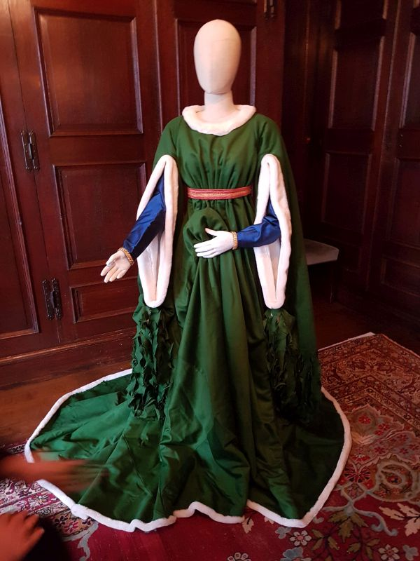 This beautiful gown was inspired by The Arnolfini Portrait (Credit: Sophie Johnson)