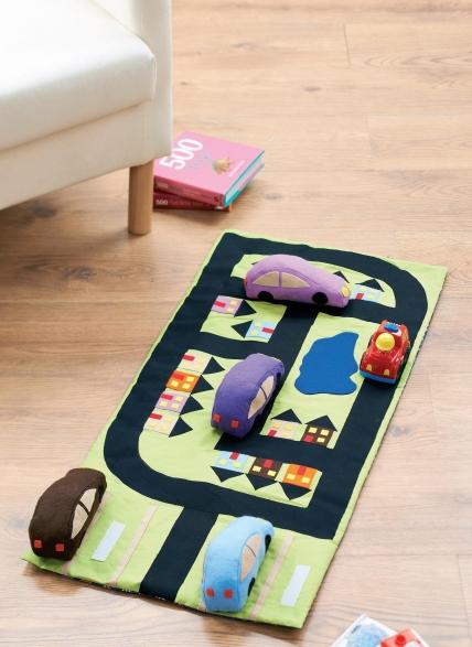 Sew a fabric car playmat